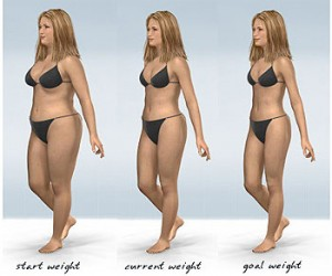 losing weight without losing breast size