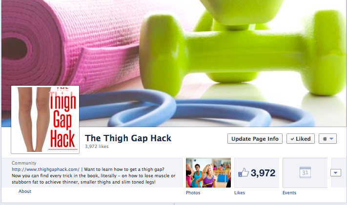 thigh gap fan page reinstated